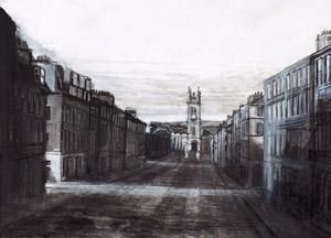 'Winter shadows on Howe Street'