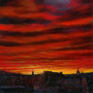 Vibrant skies over Edinburgh