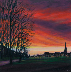 Winter skies over Bruntsfield