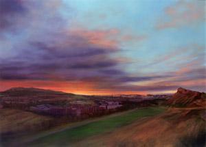 Sunset from Arthur's Seat - MEDIUM'