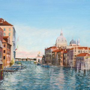 Shimmering light on The Grand Canal