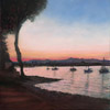 Sunset over Antibes