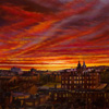 Sunset over George Heriot's